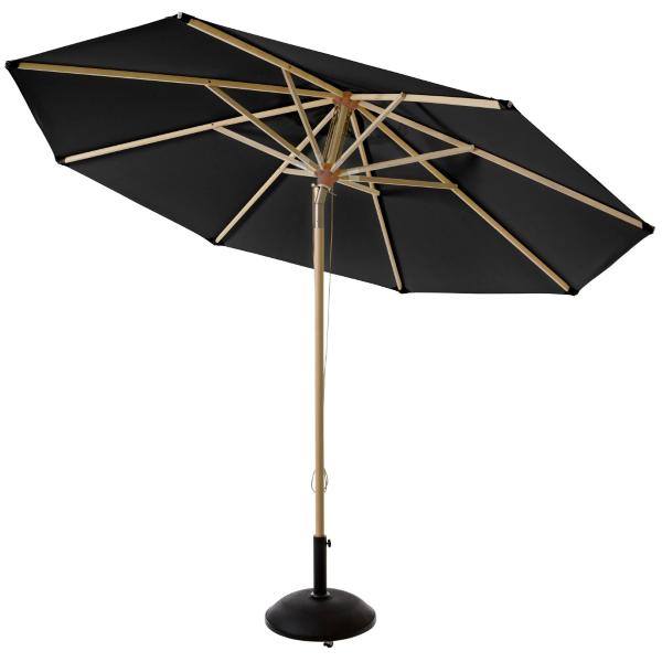parasoller Pomino parasol sort Ø3,30m   Parasoller og læhegn   Bygma parasoller