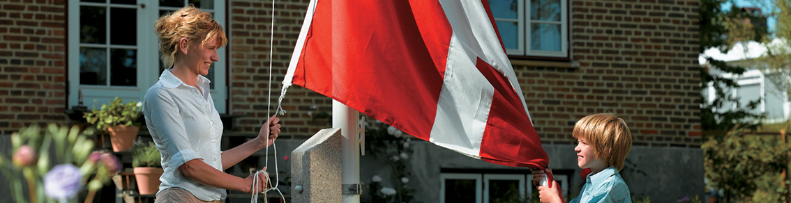 flagstang i glasfiber flag vimpel flagline flagknob beslag og sokkel til flagstang